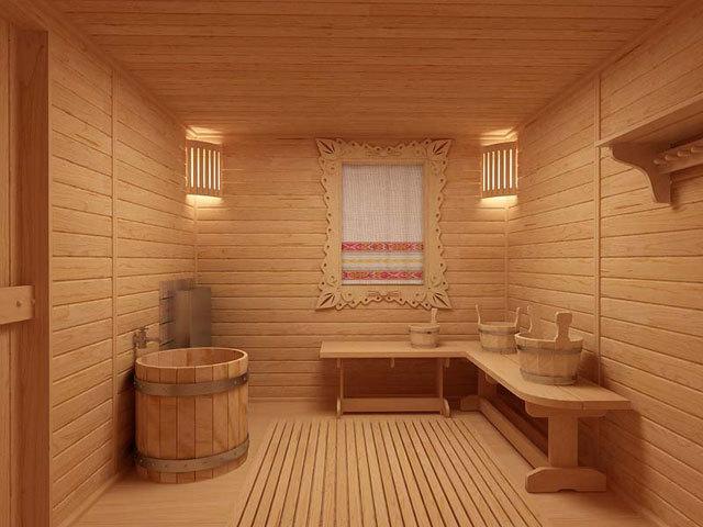 баня обшитая блок-хаусом фото
