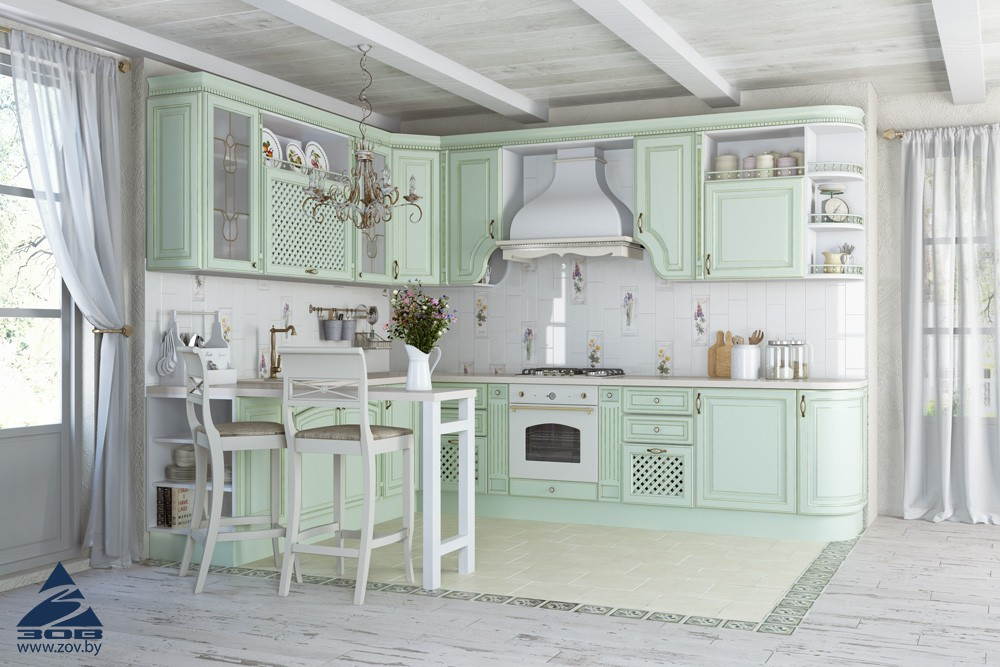 Кухня зов париж зеленая